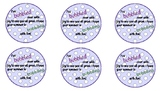 End of Year Bubble Tags