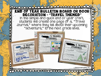 End of Year Bulletin Board or Door Decoration - Travel Themed