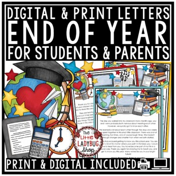 End of Year Activities BUNDLE- Memory Book, Award, End of Year Letter to Student