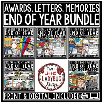 End of Year BUNDLE Editable Awards & Certificates -End of Year Letter to Student