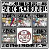 Digital Memory Book, End of Year Letter Students, Editable Awards & Certificates