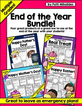 End of Year Bundle: Easter, Mother's Day, Father's Day, End of Year Memory Book