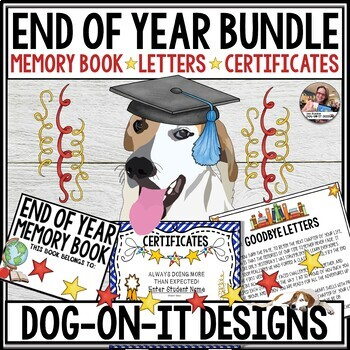 End of Year Bundle Editable Awards, End of Year Letters, End of Year Memory Book