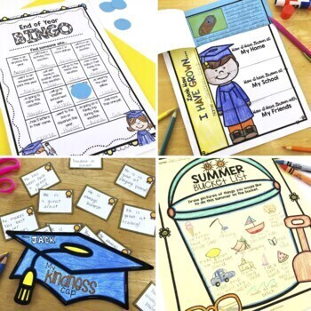 End of Year Bundle: Memory Book, Writing Prompts, Glyphs, End of Year Activities