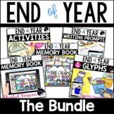 End of Year Activities Bundle: Printable & Digital Memory Book, Crafts, Writing