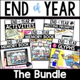 End of Year Bundle: Digital Memory Book, End of Year Dista