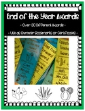 End of Year Awards: Editable Cactus Bookmarks