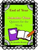 End of Year Calendar Time Quiz