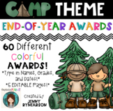 End-of-Year Camp Theme Awards! 60 Different, Colorful Awards! +5 Editable Pages!