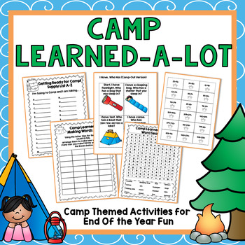 End of Year Camp Themed Activities