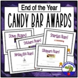 End of Year Awards - Editable Candy Bar End of the Year Awards