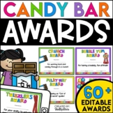 End of the Year Awards Candy Bar Awards - EDITABLE