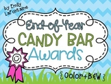 End of Year Candy Bar Awards - 30 awards in color and B&W, w/ or w/o graphics