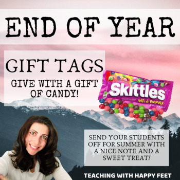 End of Year: Candy Gift Tags
