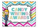 End of Year Candy Writing  Awards Certificates- Editable