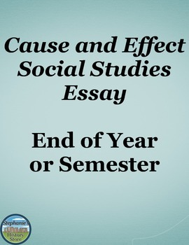 end cause effect essay
