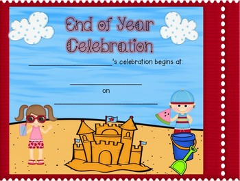End of Year Celebration Invitations (Programmable)