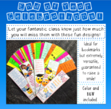End of Year Celebrations - Bookmarks