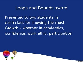 End of Year Ceremony Powerpoint