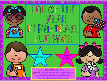 End of Year Certificate and Awards Fun Pack