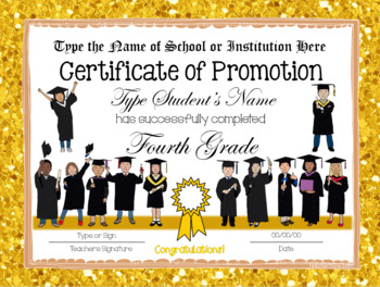 End of Year Certificates - 4th Grade
