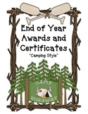 End of Year Certificates---Camping Style!