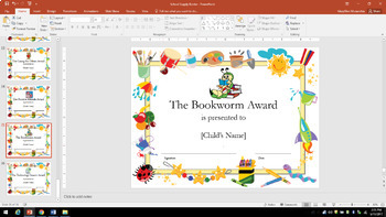 End of Year Certificates! Editable!