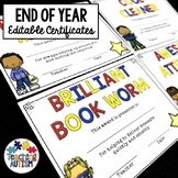 End of Year Certificates Editable