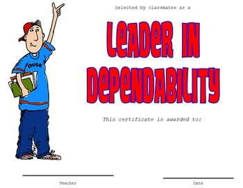 End of Year Certificates - Leadership Style