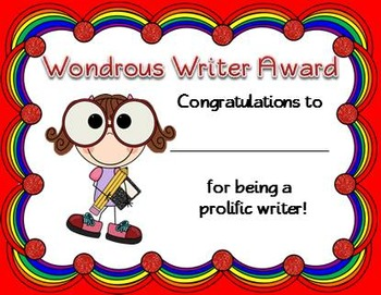 End of the Year Awards (Smarty Pants Colored Reward Certificates)