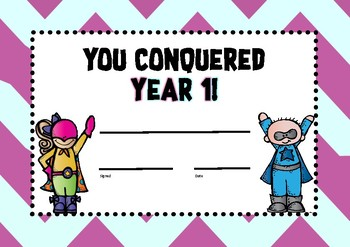 """End of Year Certificates... """"You Conquered...."""" (UK Version)"""