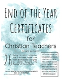 End of Year Certificates for Christian Teachers (SAMPLE)