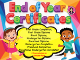 Kindergarten Graduation Certificates | First Grade | PreK | Preschool TK