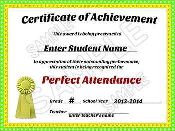 Awards Certificates of Achievement - EDITABLE