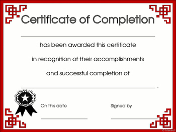 End of Year Certificates, Graduation Diplomas or Awards of Completion