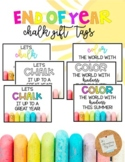 Chalk Gift Tag: End of Year *EDITABLE