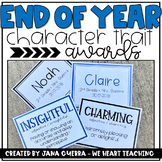 End of Year Character Award Cards