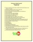 End of Year- Check list before Rest and Relaxation