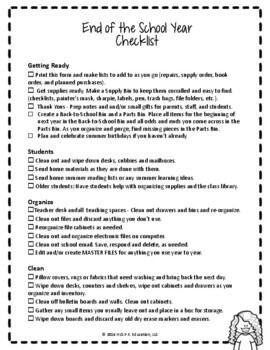 End-of-Year Checklist
