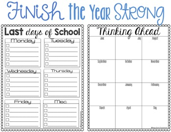 End of Year Checklists