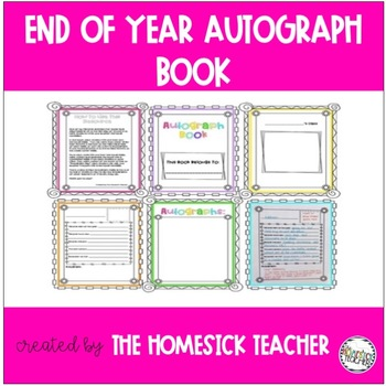End of Year Class Autograph Book