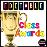 End of the Year Class Awards Editable