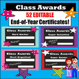 AWARDS - END OF THE YEAR - ANY TIME -  for Any Level