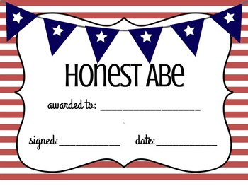 End of Year Class Awards (America Themed)