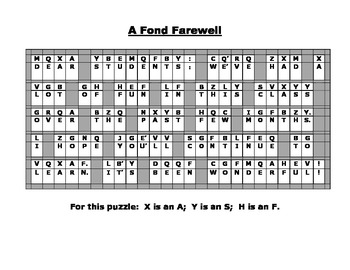 End of Year (or End of Term) Code Puzzles