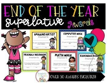 End of Year Class Superlative Awards