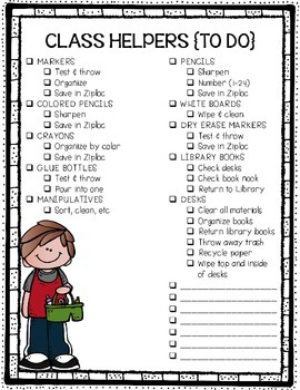 FREEBIE End Of Year Classroom Clean Up Checklist