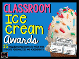 End of Year Classroom Ice Cream Awards-Fun Activity for th
