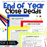 End of Year Close Reading Passages