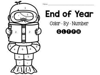 End of Year Color-By-Number Glyph